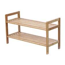 2 Tier Bamboo Shoe Rack