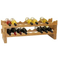 18 Bottle Stackable Wine Rack