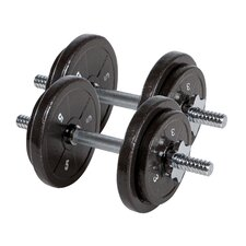 40 lbs Eco Cast Iron Dumbbell Set