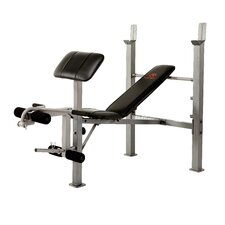 Standard Adjustable Olympic Bench with Arm Curl
