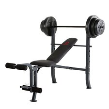 <strong>Marcy</strong> Mid-Width Weight Flat / Incline / Decline Olympic Bench with 100 lbs Weight Set
