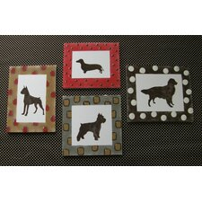 <strong>Cotton Tale</strong> Houndstooth Wall Art (Set of 4)
