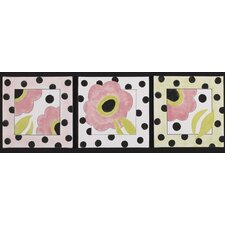 <strong>Cotton Tale</strong> Poppy 3 Piece Wall Art