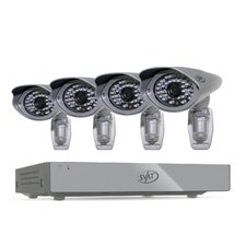 PRO™ 8CH H.264 1 TB Smart Security DVR with 4  Ultra Hi-res Outdoor Surveillance Cameras and Smart Phone Compatibility