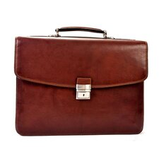 <strong>Tony Perotti</strong> Gaetano Double Gusset Leather Laptop Briefcase