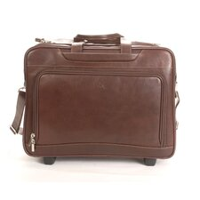 Green Torino Leather Laptop Briefcase