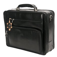 <strong>Tony Perotti</strong> Green CUltimo Leather Laptop Briefcase