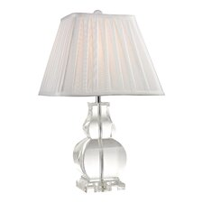 "19"" H Gourd Table Lamp with Square Shade"