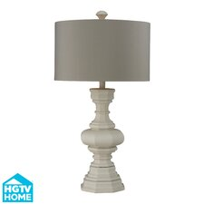 """HGTV Home Modern Heritage 31"""" H Table Lamp with Drum Shade"""