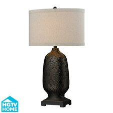 """HGTV Home Modern Heritage 31"""" H Composite Table Lamp with Drum Shade"""