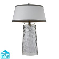 """HGTV Home 25"""" H Glass Table Lamp"""