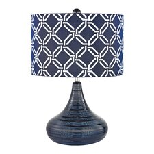 "Textured 20.5"" H Table Lamp with Drum Shade"
