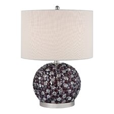 "Bejewelled 20"" H Table Lamp with Drum Shade"