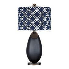 "Eco Friendly 25"" H Table Lamp with Drum Shade"