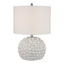"Shell 19"" H Table Lamp with Drum Shade"