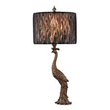 "Peacock 27"" H Table Lamp with Drum Shade"