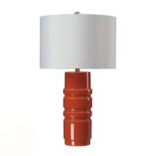 "HGTV Home Graphic Control 28"" H Table Lamp with Drum Shade"