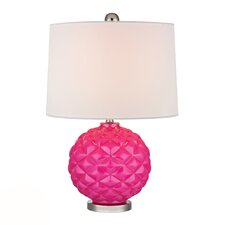 """HGTV Home 22"""" H Glass and Metal Table Lamp"""