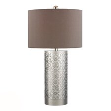 "HGTV Home 30.75"" H Table Lamp with Drum Shade"