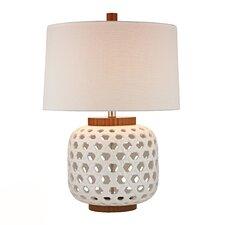 "HGTV Home 26"" H Wood Tone Table Lamp"