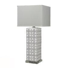 "HGTV Home Voyage 31"" H Rectangular Ceramic and Crystal Table Lamp"