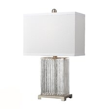 "HGTV Home 24"" H Glass and Metal Table Lamp"