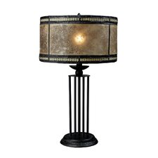"Mica Filagree 23"" H Table Lamp with Drum Shade"