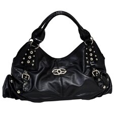 Eliza Croco Embossed Faux Leather Large Hobo Bag