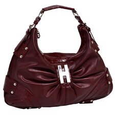 Dianthe Croco Embossed Faux Leather Large Hobo Bag