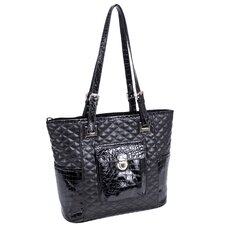<strong>Parinda</strong> Farrah Quilted Croco Faux Leather Tote Bag
