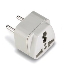 Lewis N. Clark Europe-Asia Adapter Plug with Universal Receptacle
