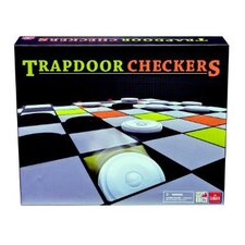 Trapdoor Checkers Board Game