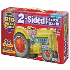 2 - Sided Sneaky Floor Puzzle - A Day on the Farm