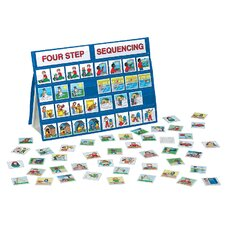 <strong>Patch Products</strong> Four-Step Sequencing Tabletop Pocket Chart