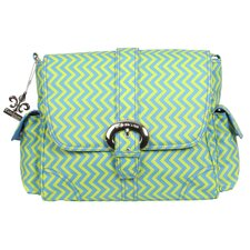 Midi Wiggly Stripes Satchel