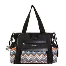 Black / Safari ZigZag Shoulder Bag