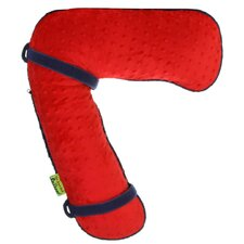 Seat Belt Snoozer in Red / Navy Minky