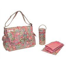 <strong>Kalencom</strong> Laminated Buckle Bag in Cotton Candy Paisley Pink
