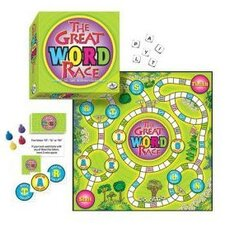 Family Games The Great Word Race Board Game