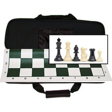 <strong>Wood Expressions</strong> Tournament Chess Set with Canvas Bag