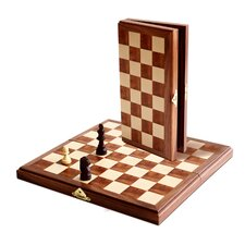 "<strong>Wood Expressions</strong> 11"" Travel Magnetic Chess Set"