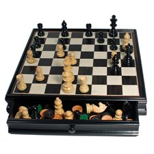 Chess / Checkers Set in Black