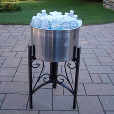 "Coolers 14"" Stainless Steel Ice Bucket and Stand"