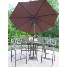 Elite Mississippi Bar Height Dining Set with Umbrella