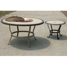 Stone Art Dining Table with Firepit
