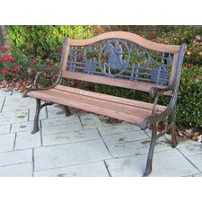 Horse Wood and Cast Iron Park Bench