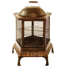 Pentagon Cast Iron Wood Fire Pit Chimenea