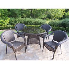 <strong>Oakland Living</strong> Resin Wicker 5 Piece Dining Set