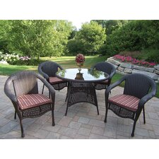 Resin Wicker Dining Set with Cushions
