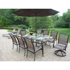 <strong>Oakland Living</strong> Cascade Dining Set with Umbrella